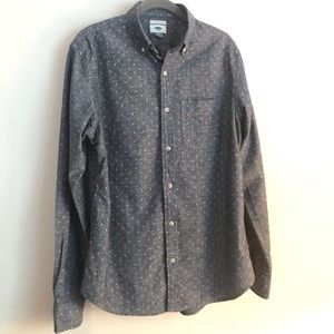 Men's Button-Down with Leaf accent